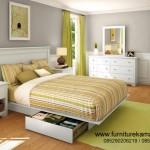 Set Kamar Tidur Anak Laki Laki Terbaru Model Duco Putih FKT-K 461