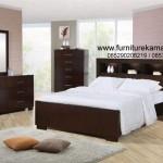 Set Kamar Tidur Minimalis Jati Salak Brown FKT-K 549